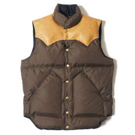WAREHOUSE ウエアハウス × Rocky Mountain Feather Bed ロッキー マウンテン WH DOWN VEST 170 D.BROWN ダウンベスト コラボレーション ダブルネーム MADE IN JAPAN
