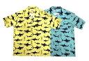 SCHOTT ショット HAWAIIAN SHIRT SHARK ハワイアン シャツ シャーク サメ ハワイアンシャツ アロハシャツ 2色(YE…