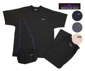 THOUSAND MILE サウザンドマイル SUMMER VACATION SET UP サマーバケーション セットアップ Tシャツ/パンツ/サコッシュのセット 4色(BLACK/NAVY/CHARCOAL/GREIGE)