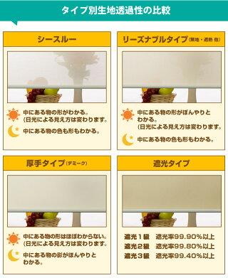 ロールスクリーンTKW遮光3級ウォッシャブル
