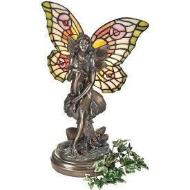 ティファニースタイルのステンドグラス 妖精フェアリーイルミネーション彫刻 彫像/ 書斎 化粧室 アロマスタジオ ネイルサロン(輸入品