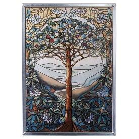 トゥリー・オブ・ライフ「生命の木」ルイスコンフォート・ティファニー作 ステンドグラス アートガラスパネル ウインドウハンギング(輸入品