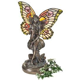 グレン・ティファニースタイルのステンドグラス妖精 フェアリーイルミネーション彫刻 彫像/ 貴賓室 VIPルーム プレゼント 贈り物(輸入品