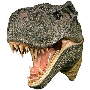 壁架け用 ティラノサウルス(Tレックス) 恐竜頭部 彫像 中生代白亜紀末期 北アメリカ大陸 肉食恐竜 ジュラシック・パーク(輸入品)