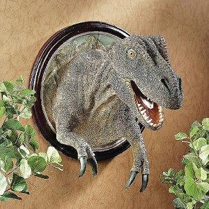 ティラノサウルス Tレックス 肉食恐竜 壁掛け彫刻 装飾雑貨インテリア 中生代白亜紀末期 北アメリカ大陸 肉食恐竜 ジュラシック・パーク(輸入品)