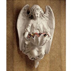 西洋彫刻 ブリクストンアビー(修道院)の天使 エンジェルの壁飾り 壁彫刻 彫像/カトリック教会 福音 洗礼 聖霊 プレゼント贈り物(輸入品