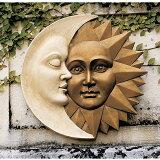 天体のハーモニー太陽と月壁面彫刻彫像/CelestialHarmonySun&MoonWallDecor(輸入品)