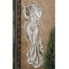 """約76cm 古典 ハープを奏でる、音楽の女神 天使 ウォール レリーフ壁彫刻 彫像/30"""" Classic Musical Beauty Feminine Wall Sculpture (輸入品"""