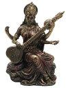 弁才天(弁財天)彫像 知識と音楽、芸術の女神 サラスヴァティー 芸能の神 芸事 贈り物 プレゼント/Saraswati - Hind…