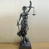 正義の女神テミス彫像法律の正義を象徴する彫像ブロンズ風仕上げ