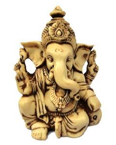 夢をかなえるゾウ ガネーシャ像 アンティーク風仕上げ ヒンズー教の神像 彫像 彫刻 高さ 約9cm(輸入品