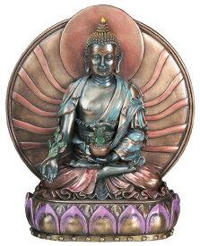 薬師如来 仏像 彫刻 彫像 大乗仏教 災禍を消去 瑠璃光 贈り物/ Medicine Buddha Collectible Sculpture(輸入品)
