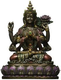 観音菩薩座像 観世音菩薩(かんぜおんぼさつ)観自在菩薩 仏教 慈悲と長寿の仏像彫像 大乗仏教/ Buddhist Avalokiteshvara(輸入品)