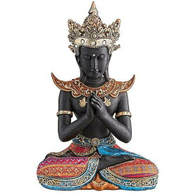 タイのスコタイ(スコータイ)王朝 仏像 彫刻 彫像 書斎 リビング エスニックカフェ プレゼント/ Design Toscano Thai Sukhothai Buddha Asian Statue(輸入品)
