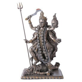 インド ヒンドゥー教 殺戮と破壊、啓蒙の女神 カーリー・バヴァタリニー 破壊神 時間と死の女神 彫刻 彫像(輸入品)