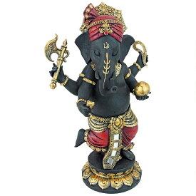 デザイン・トスカノ製 立っている、ガネーシャ像(夢を、かなえるゾウ) ヒンズー教 象の神像、商売繁盛、成功神 守護神 智慧と知識 最高神 高さ 約30cm 彫像 彫刻(輸入品)