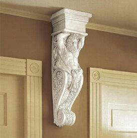 デザイン・トスカノ製、古代ギリシャ テラモン(男像柱)の壁彫刻 彫像/ Telamon Wall Sculpture(輸入品