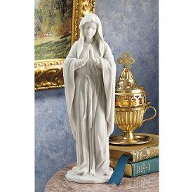 オータムセール!特別価格!即納!大理石風 聖母マリア像 彫像 彫刻高さ 約29cm キリスト教美術 宗教彫刻/ カトリック教会 祭壇 洗礼 福音 聖書(輸入品