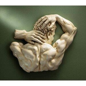 ザイン・トスカノ製 テセウス(男性の筋肉 背中像) 壁彫刻 彫像/ Design Toscano Theseus Sculptural Wall Frieze(輸入品