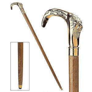 デザイン・トスカノ製 紳士の選択/キング・オブ・ザビースト クローム製 ライオン ハンドル飾り ウォーキングスティック 杖(輸入品)