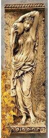 水の乙女 壁彫刻 レリーフ彫像 アンティークストーン風 古代ギリシャ 建築様式(カリアティード):ドルドーニュ川 彫像 彫刻(輸入品)フランス 妖精 天使 化粧室 バスルーム