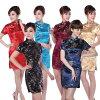 Lows challenge cheongsam clothing China dress cosplay Dragon (Draco) Phoenix (Phoenix) pattern cheongsam mini cheongsam dress short sleeve Halloween S ~ XXL large size contemporary new design