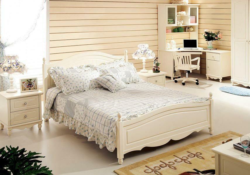 お姫様系ホワイトシリーズベッド