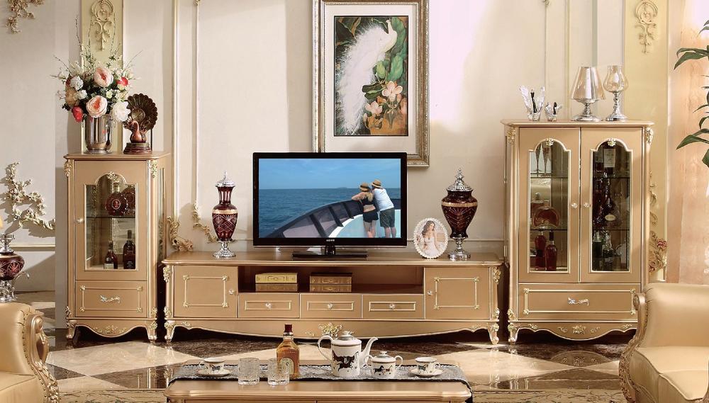 ロココ調木製TVボードセット