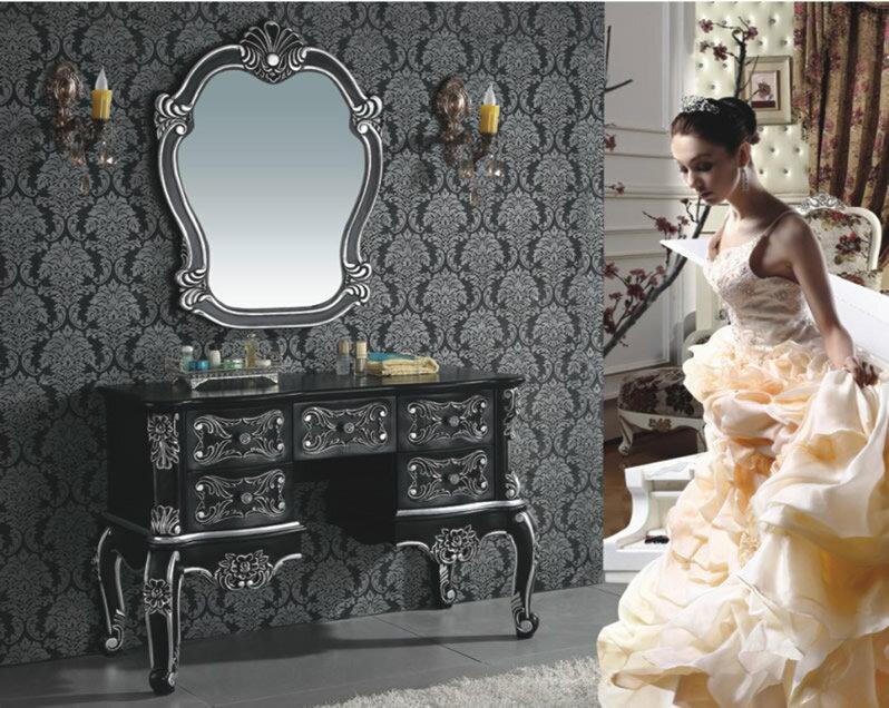 ロココ家具調・高級洗面化粧台・DOKシリーズ