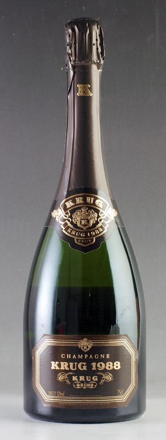 【送料無料】 [1988] クリュッグ ヴィンテージ 【箱なし】 Krug Vintage 750mlフランス / シャンパーニュ / 発泡・シャンパン