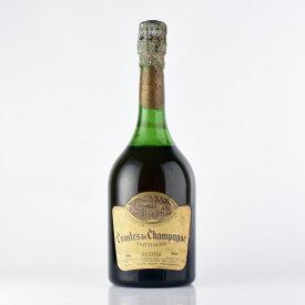【大感謝祭】1961 テタンジェ・コント・ド・シャンパーニュ ブラン・ド・ブラン ※液漏れフランス / シャンパーニュ / 発泡・シャンパン[のこり1本]