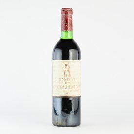 シャトー ラトゥール 1975 キャップシール不良 コルク沈み ラベル不良 フランス ボルドー 赤ワイン[のこり1本]