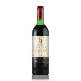 シャトー ラトゥール 1979 コルク沈み ラベル不良 フランス ボルドー 赤ワイン