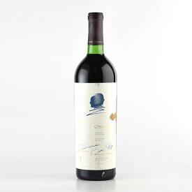 【大感謝祭】1981 オーパス・ワン※ラベル不良アメリカ / カリフォルニア / 赤ワイン