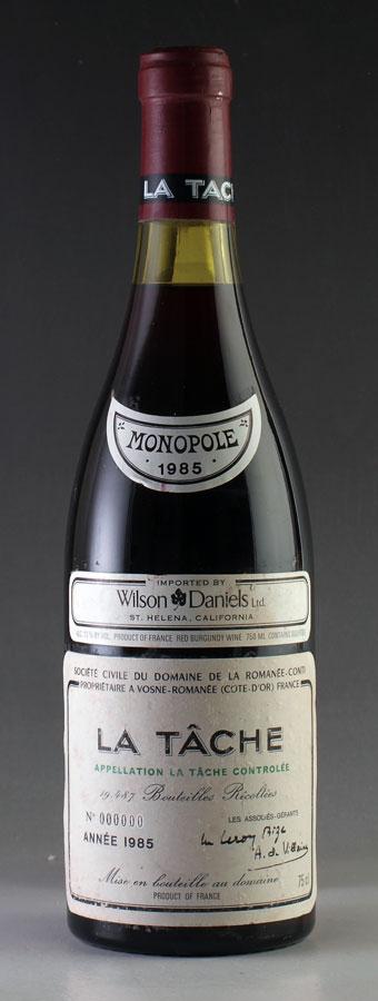 【送料無料】 [1985] ラ・ターシュ 750mlドメーヌ・ド・ラ・ロマネ・コンティ【DRC】Domaine de la Romanee-Conti La Tache