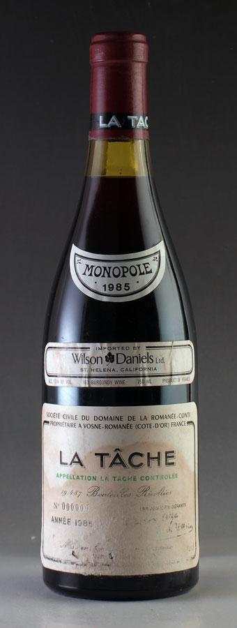 【送料無料】 [1985] ラ・ターシュ 【ラベル汚れ】 La Tacheドメーヌ・ド・ラ・ロマネ・コンティ DRCフランス / ブルゴーニュ / 赤ワイン