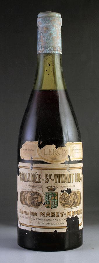 【送料無料】 [1964] ロマネ・サン・ヴィヴァンRomanee St Vivantドメーヌ・ド・ラ・ロマネコンティ DRC※ラベル不良ありフランス / ブルゴーニュ / 赤ワイン