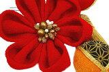 髪飾り成人式振袖浴衣卒業式袴結婚式5点セット赤橙白花和洋かんざし手作り簪つまみ細工ちりめんフォーマル花飾り玉飾りブライダルW50304-374赤橙白o706Si
