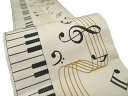 半幅帯 おりびと ピアノ リバーシブル カジュアル 浴衣にも 音符 矢羽根 白地I-40B f422 KSi