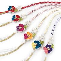 振袖帯締めつまみ細工花飾り帯〆成人式振袖小物可愛い華やか和装小物ピンク白黄橙紫赤W078281m935