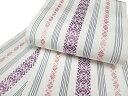 夏 浴衣帯 半幅帯 本場筑前博多細帯 浴衣帯 オフホワイト 紫 上品なローズピンク e540r
