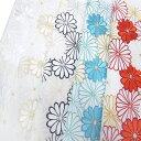 半衿 振袖 成人式 刺繍 菊詰め 可愛い 半襟 白 黒 空色 臙脂 金 k750r