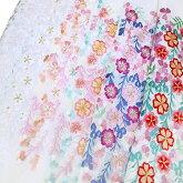 半衿振袖礼装刺繍藤桜半襟白桜色紫臙脂金k753r
