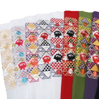 半衿振袖刺繍日本製鱗に牡丹半襟白紫赤黒金k765r