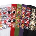 半衿 振袖 刺繍 日本製 鱗に牡丹 半襟 臙脂 抹茶色 紫 黒 金 k766r