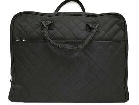 和装バッグ 和洋兼用 キルティング 着物 スーツ 一式収納 ガーメントバッグ たっぷり収納 持ち運び用 ハンガー付 黒 j769r