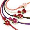 振袖帯締めつまみ細工花飾り帯〆成人式振袖小物可愛い華やかピンク和装小物白黒紫赤W078281k873