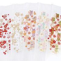 半衿振袖刺繍矢羽根梅白地半襟成人式フォーマル日本製シルエリー矢羽根に梅03501743b980