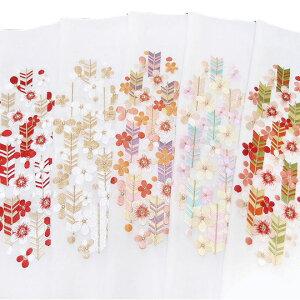 半衿 振袖 刺繍 矢羽根 梅 花 白地 半襟 成人式 フォーマル 日本製 シルエリー 矢羽根 に 梅 03501743 b980 TSi