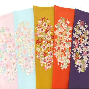 半衿 振袖 刺繍 矢羽根 梅 ピンク 水色 からし 橙 紫 半襟 成人式 フォーマル 日本製 シルエリー 矢羽根に梅 03501743 b981 TSi
